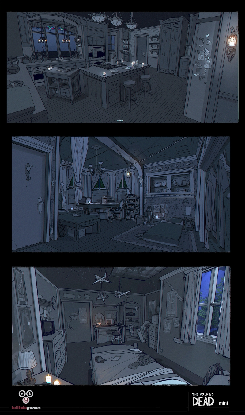 Environment Concept Art - Telltale Games Walking Dead
