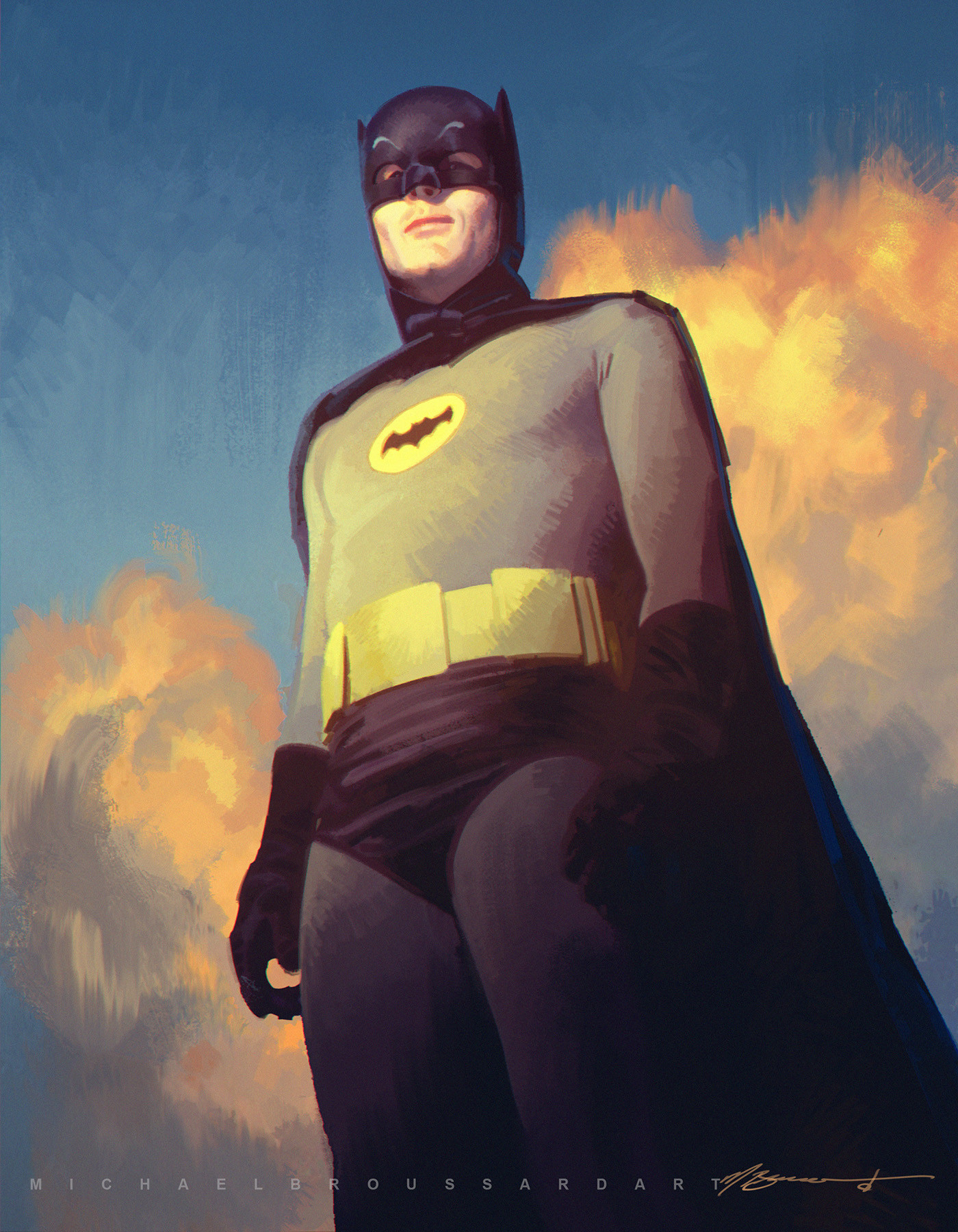 Michael Broussard-Adam-West-tribute