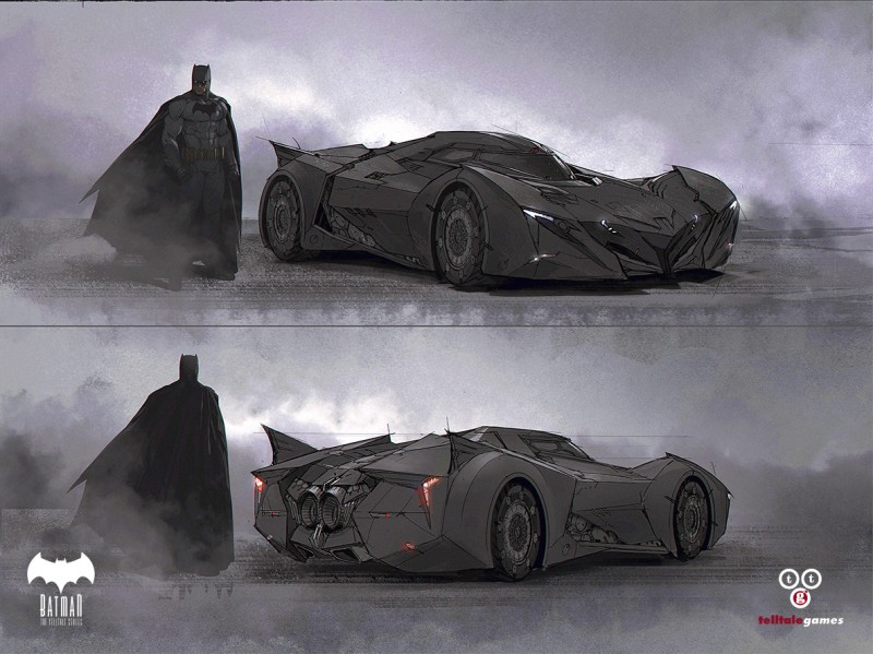 Character Concept Art - Telltale Games Batman -Batmobile-dev3as