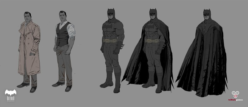 Character Concept Art - Telltale Games Batman