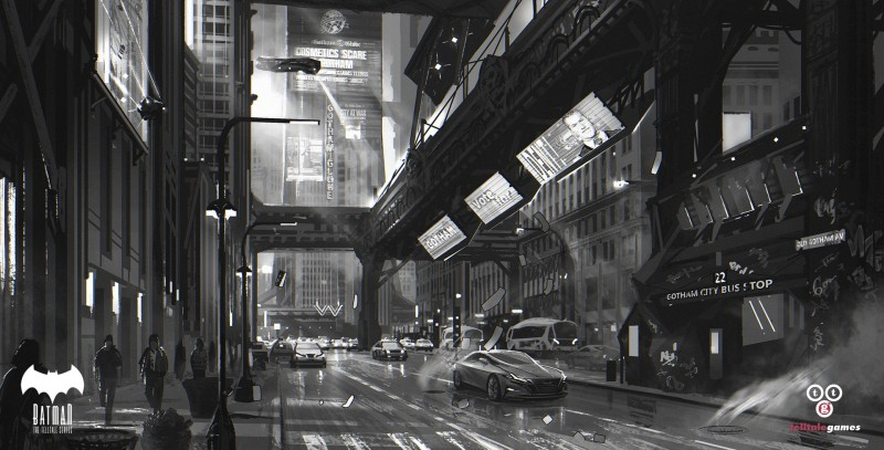 Environment Concept Art - Telltale Games Batman Gotham City