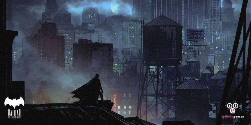 Environment Concept Art - TellTale Games Batman - Gotham Rooftop - devsketch