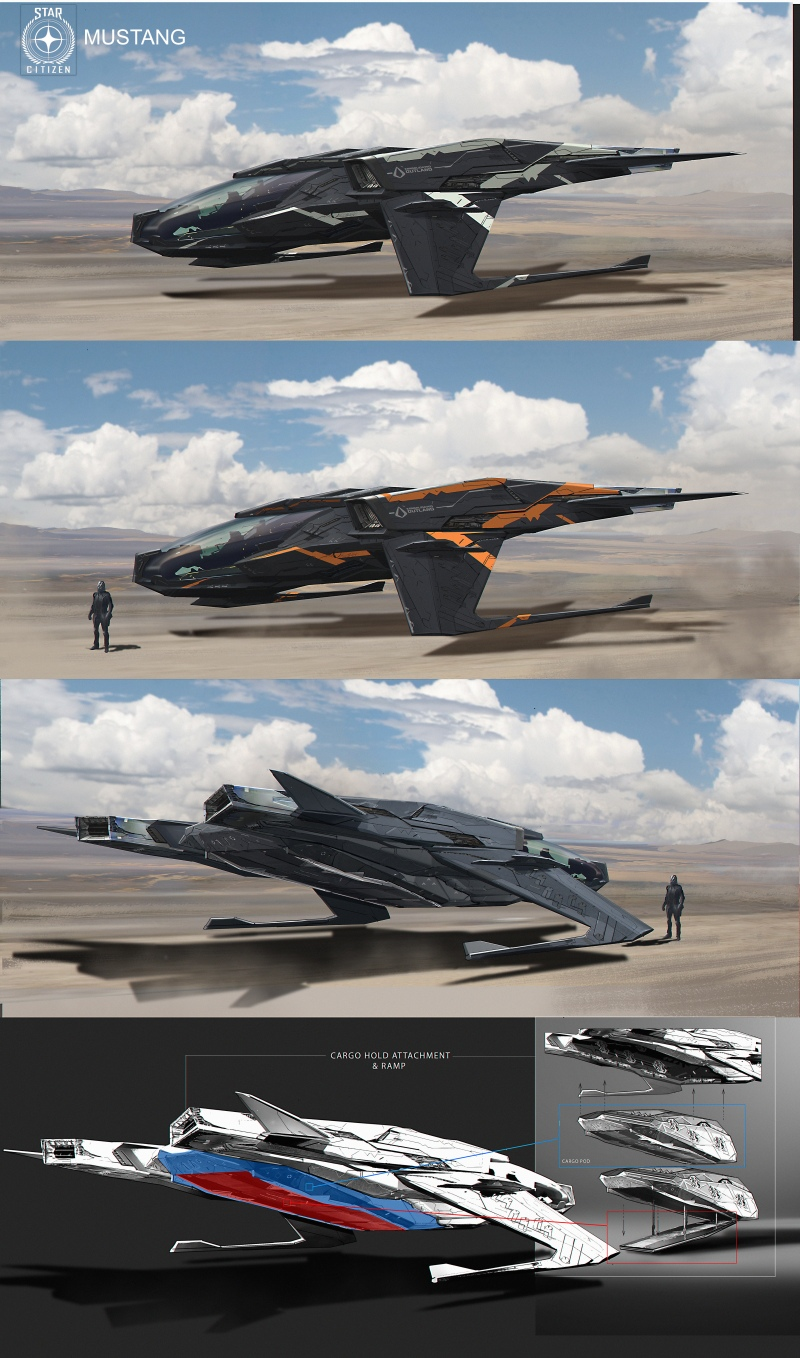 Vehicles and Props Concept Art - Star Citizen Mustang_A1